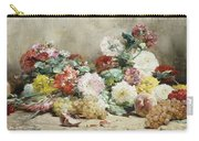Carnations, Roses, Grapes And Peaches Carry-all Pouch