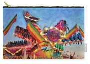 Carnival - A Most Colorful Ride Carry-all Pouch by Mike Savad