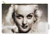 Carole Lombard, Vintage Actress By John Springfield Carry-all Pouch