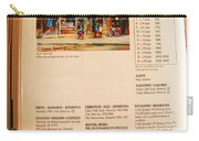 Carole Spandau Listed In  Magazin'art Biennial Guide To Canadian Artists In Galleries 2000-2001 Edit Carry-all Pouch