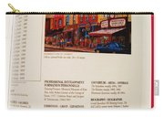 Carole Spandau Listed In Magazin'art Biennial Guide To Canadian Artists In Galleries 2009-2010 Edit Carry-all Pouch