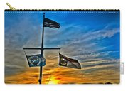 Carolina Beach Lake Flag Pole V2 Carry-all Pouch
