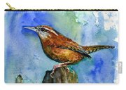 Carolina Wren And Baby Carry-all Pouch