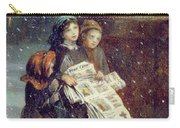 Carols For Sale  Carry-all Pouch by Augustus Edward Mulready
