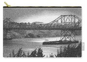 Carquinez Bridge Pointilized B And W Carry-all Pouch