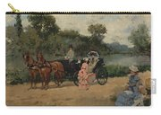 Carriage Ride By The River Carry-all Pouch