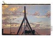Cars On The Move- Lenny Zakim Bridge Sunset Carry-all Pouch