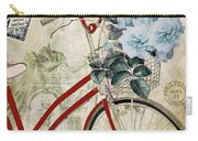 Carte Postale Vintage Bicycle Carry-all Pouch