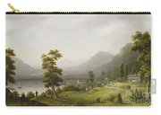 Carter's Tavern At The Head Of Lake George Carry-all Pouch by Francis Guy