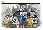 Cartoon: New Deal, 1933 Carry-all Pouch