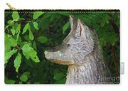 Carved Dogs Head Carry-all Pouch