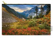 Cascade Pass Fall Carry-all Pouch by Inge Johnsson