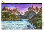 Cascades In Patagonia Painting Carry-all Pouch