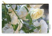 Cascading White Roses Carry-all Pouch
