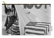 Casket On Banner Young Girl Anti Gulf War Rally Tucson Arizona 1991 Carry-all Pouch