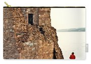 Castle Ruins On The Seashore In Ireland Carry-all Pouch