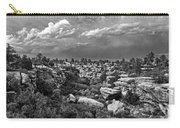 Castlewood Canyon And Storm - Black And White Carry-all Pouch