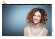 Casual Portrait Of A Cute, Authentic Girl. Carry-all Pouch