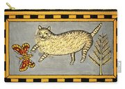 Cat And Butterfly Carry-all Pouch