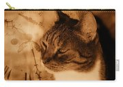 Cat And Clock Carry-all Pouch