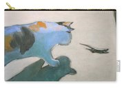 Cat And Lizard  Carry-all Pouch