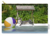 Cat At The Beach Carry-all Pouch