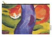 Cat Behind A Tree Carry-all Pouch