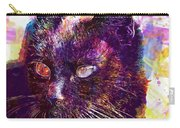 Cat Black View Close  Carry-all Pouch