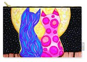 Cat Couple Full Moon Carry-all Pouch