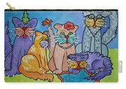 Cat Family Gathering Carry-all Pouch
