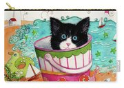 Cat In A Pail Carry-all Pouch