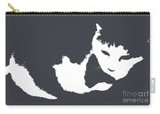 Cat In Black And White Carry-all Pouch by KR Moehr