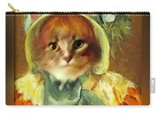 Cat In Bonnet Carry-all Pouch