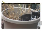 Cat In Flower Pot. Carry-all Pouch