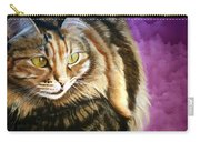 Cat In Purple Background Carry-all Pouch