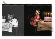 Cat - It's Our Birthday - 1914 - Side By Side Carry-all Pouch