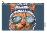 Cat Kitty Kitten In Clothes Aviators Toque Beanie Carry-all Pouch