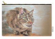 Cat Sitting On Lookout Carry-all Pouch