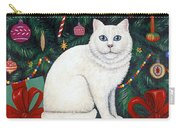 Cat Under The Christmas Tree Carry-all Pouch
