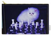 Cat With Chess Board Anbd Mouse Carry-all Pouch