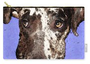 Catahoula Leopard Dog - Soulful Eyes Carry-all Pouch by Sharon Cummings