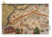 Catalan Map Of Europe And North Africa Charles V Of France In 1381  Carry-all Pouch by Abraham Cresques