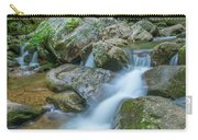 Catawba Stream Cascades At High Shoals Falls In North Carolina Carry-all Pouch by Ranjay Mitra