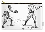 Catcher & Batter, 1889 Carry-all Pouch by Granger