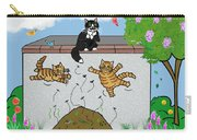 Tabby Cats Falling Carry-all Pouch