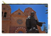 Cathedral Basilica In Santa Fe Carry-all Pouch by Susanne Van Hulst