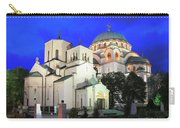 Cathedral Of Saint Sava At Dusk Belgrade Serbia Carry-all Pouch