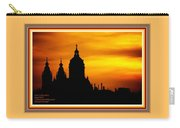 Cathedral Silhouette Sunset Fantasy L A With Alt. Decorative Ornate Printed Frame. Carry-all Pouch