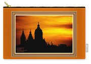Cathedral Silhouette Sunset Fantasy L A With Decorative Ornate Printed Frame. Carry-all Pouch