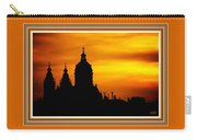 Cathedral Silhouette Sunset Fantasy L B With Decorative Ornate Printed Frame. Carry-all Pouch